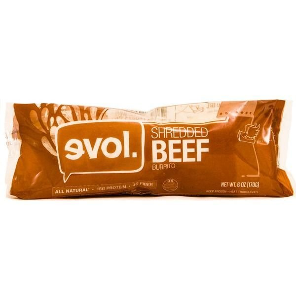 Frozen Burrito, Evol® Shredded Beef Burrito (6 oz Bag)
