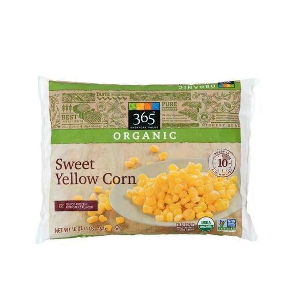 Frozen Corn, 365® Organic Sweet Yellow Corn (16 oz Bag)