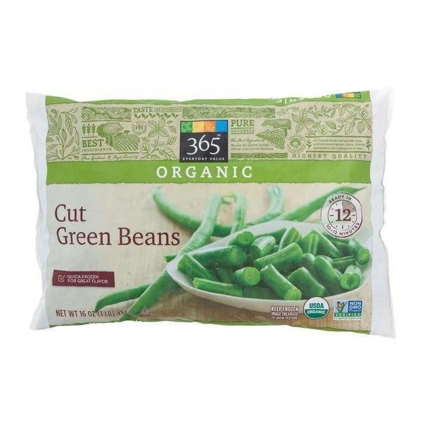"""Frozen Green Beans, 365® Organic """"Frozen"""" Cut Green Beans (16  oz Bag)"""