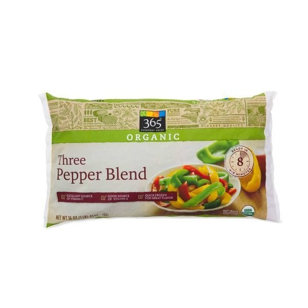 Frozen Vegetables, 365® Organic Three Pepper Blend Mixed Vegetables (16 oz Bag)