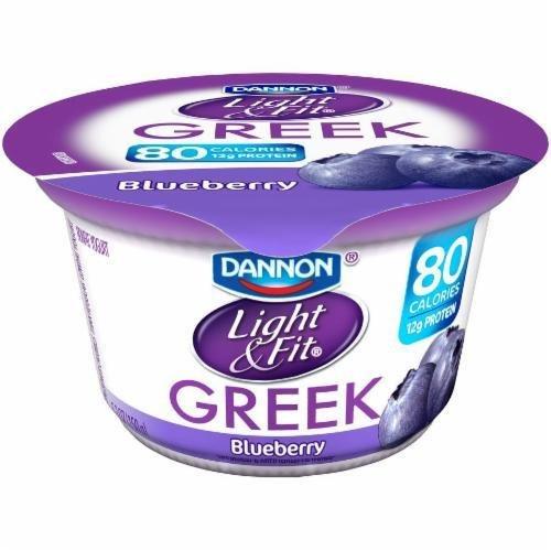 Yogurt, Dannon® Light & Fit® Greek Nonfat Blueberry Yogurt (5.3 oz Cup)