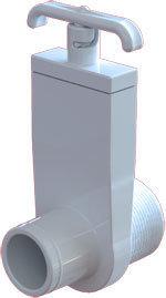 Waterway Slice & Gate Valves 1-/2″ MIP Slice Valve – 1-1/2″ Hose