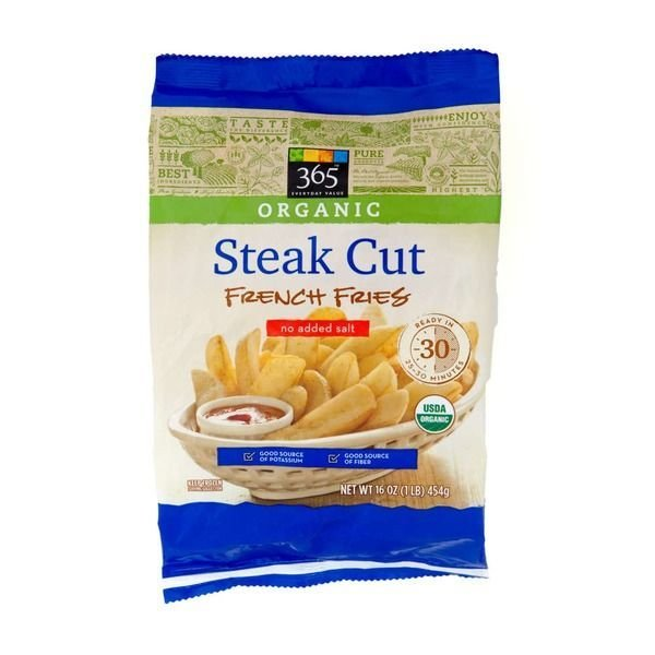 "Frozen Potatoes, 365® Organic ""Steak Cut"" French Fries (16 oz Bag)"