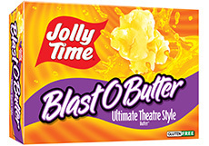 Microwave Popcorn, Jolly Time® Blast O Butter, 9.6 oz. Box (3 Bags)