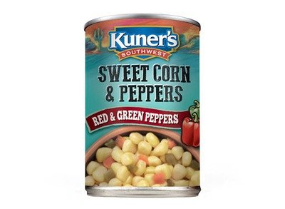Canned Corn , Kuner's® Southwestern Sweet Corn 'n Peppers (15 oz Can)