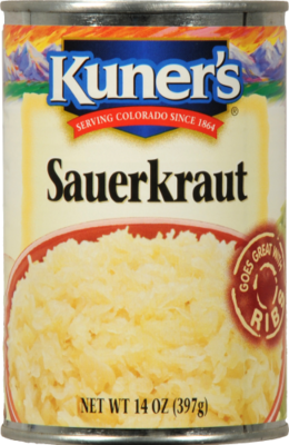 Canned Sauerkraut, Kuner's® Sauerkraut (14 oz Can)