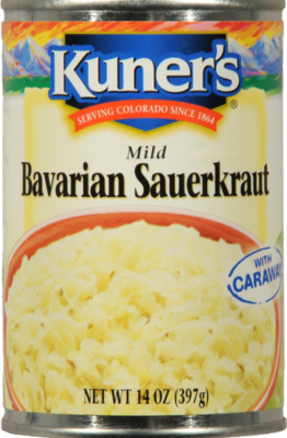 Canned Sauerkraut, Kuner's® Bavarian Sauerkraut (14 oz Can)