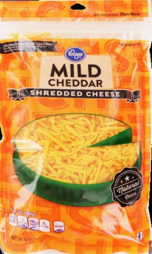 Shredded Cheese, Kroger® Shredded Mild Cheddar Cheese (16 oz Resealable Bag)