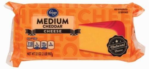 Cheese Block, Kroger® Block of Sharp Cheddar Cheese (32 oz Bag)