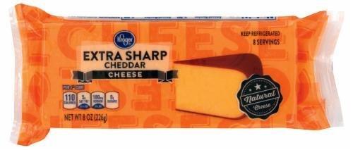Cheese Block, Kroger® Block of Extra Sharp Cheddar Cheese (8 oz Bag)