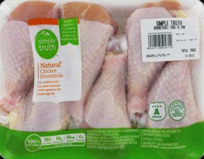 Boneless Chicken, Simple Truth™ Natural Chicken Drumsticks (6 per Tray)