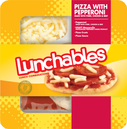 Pizza Snack, Lunchables® Pizza with Pepperoni (4.3 oz Tray)