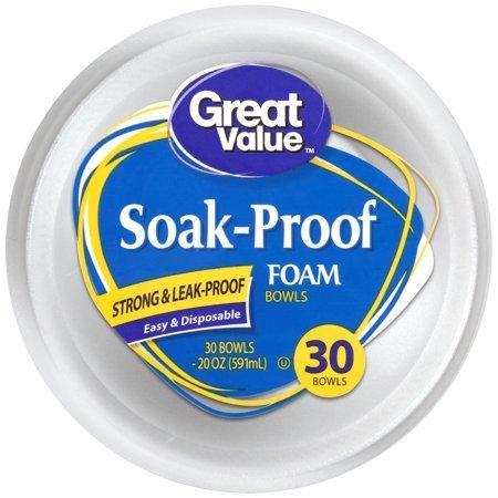 Dinnerware, Great Value® Foam Bowls (30 Count)