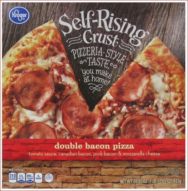 Frozen Pizza, Kroger® Self-Rising Crust Double Bacon Pizza (28.65 oz Box)