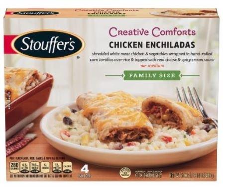 Frozen Dinner, Stouffer's® Chicken Enchiladas (30 oz Box)