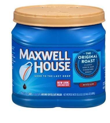 Ground Coffee, Maxwell House® Original Roast® Ground Coffee (30.6 oz Tub)