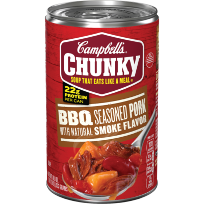 Canned Soup, Campbell's® Chunky® BBQ Seasoned Pork Soup (18.8 oz Can)