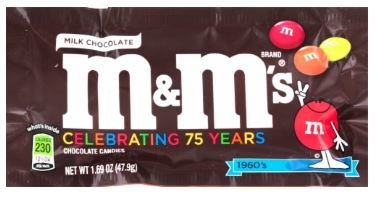 Chocolate Candies, Mars® M&M's® Milk Chocolate (1.69 oz Bag)