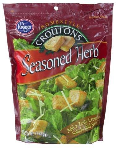 Salad Croutons, Kroger® Seasoned Herb Croutons (5 oz Bag)