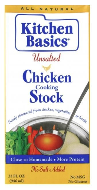 Boxed Broth, Kitchen Basics® Unsalted Chicken Stock (32 oz Carton)
