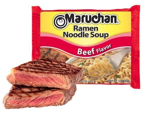 Ramen, Maruchan® Ramen with Beef Flavor Noodle Soup (3 oz Bag)