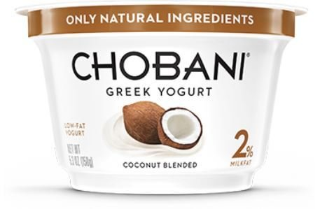 Yogurt, Chobani® Greek Coconut 2% Yogurt (5.3 oz Cup)