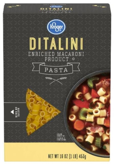 Pasta, Kroger® Ditalini Pasta (16 oz Box)