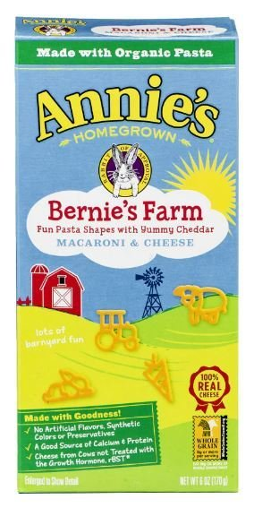 Mac N Cheese Pasta, Annie's® Bernie's Farm® Macaroni & Cheese (6 oz Box)