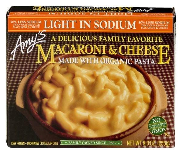 Mac N Cheese Dinner, Amy's® Organic Low Sodium  Mac & Cheese (9 oz Box)