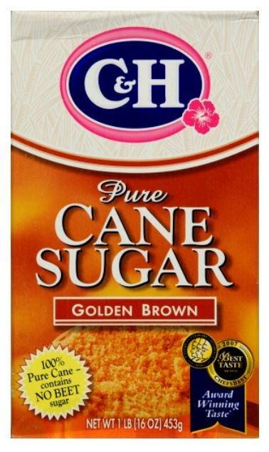 Sugar, C&H® Golden Brown Pure Cane Sugar (16 oz Box)