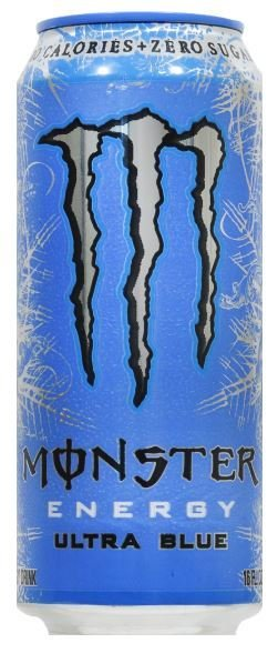 Energy Drink, Monster® Ultra Blue™ Energy Drink (16 oz Can)