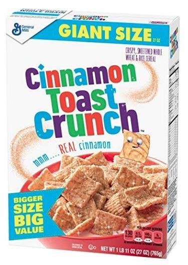 Cereal, General Mills® Cinnamon Toast Crunch™ Cereal (Giant Size-27 oz Box)