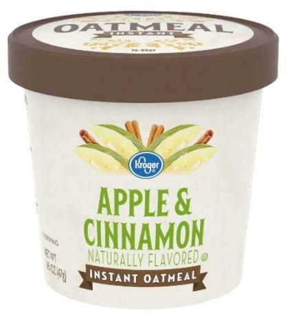 """Hot Cereal, Kroger® Instant Oatmeal """"Apple & Cinnamon"""" (1.65 oz Cup)"""