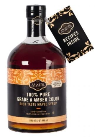 Pancake Syrup, Private Selection™ 100% Pure Grade A Amber Color Maple Syrup (32 oz Bottle)