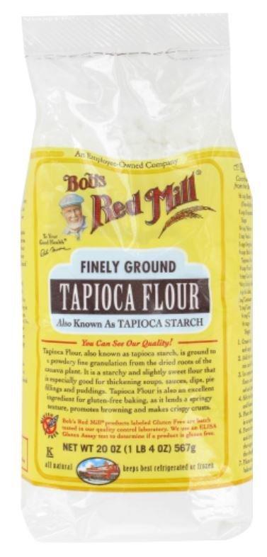 """Baking Flour, Bob's Red Mill® Finely Ground Tapioca """"Flour"""" Starch (20 oz Bag)"""