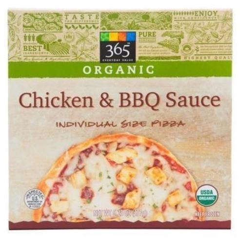 Organic Pizza, 365® Organic Chicken & BBQ Sauce Pizza (6.25 oz Box)