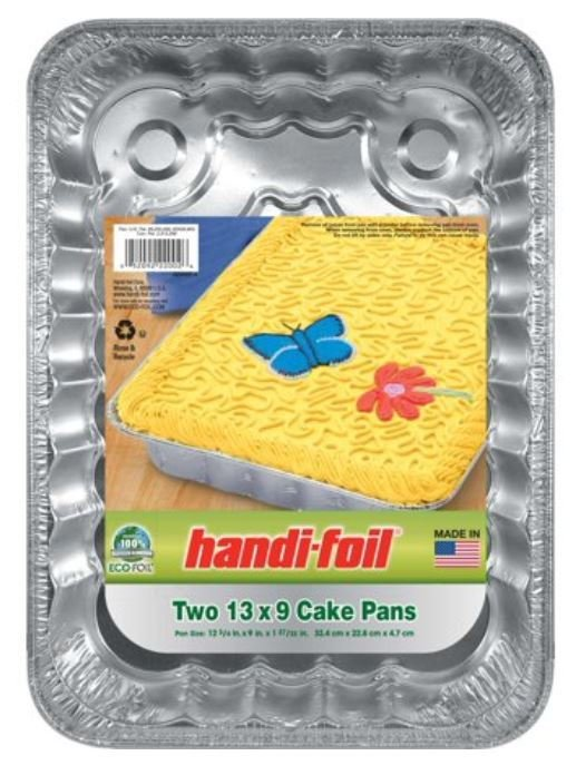 "Cake Pan, Handi-foil® Eco-Foil® Cake Pan (2 Count, 13"" x 9"" Cake Pans)"