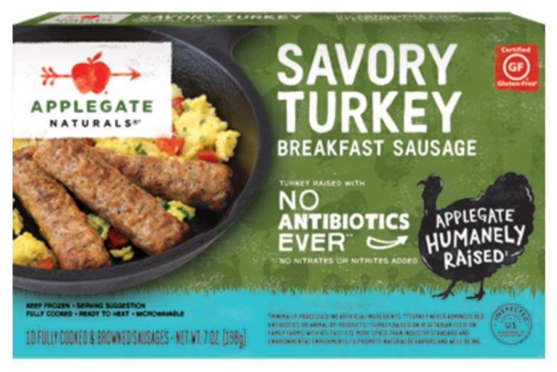 Frozen Sausage Links, Applegate Farms® Savory Turkey Sausage (7 oz Box)
