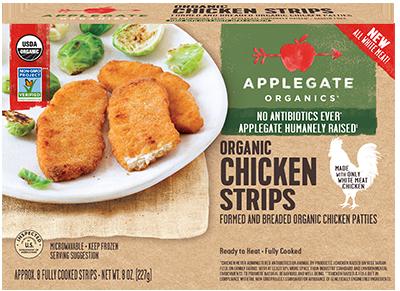 Chicken Strips, Applegate Farms® Organic Chicken Strips (8 oz Box)