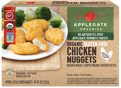 Chicken Nuggets, Applegate Farms® Organic Gluten Free Chicken Nuggets (8 oz Box)