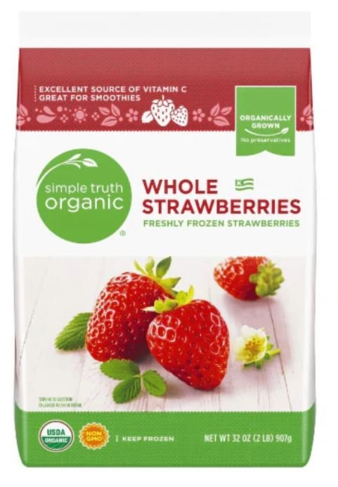 Frozen Fruit, Simple Truth Organic™ Whole Strawberries (32 oz Bag)