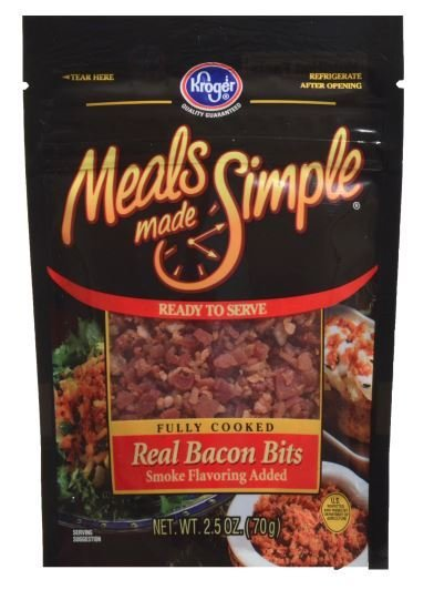 Bacon Bits, Kroger® Meals Made Simple® Real Bacon Bits (2.5 oz Bag)
