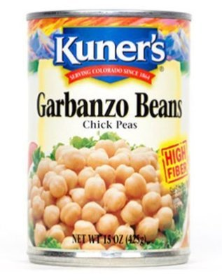 Canned Garbanzo Beans, Kuner's® Garbanzo Beans (15 oz Can)