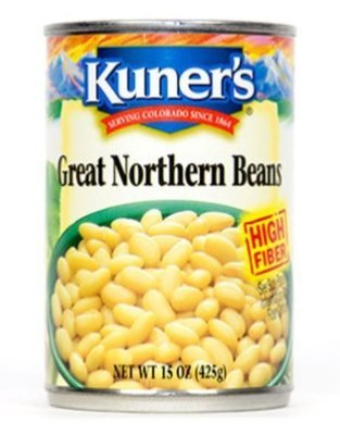 Canned Great Northern Beans, Kuner's® Great Northern Beans (15 oz Can)