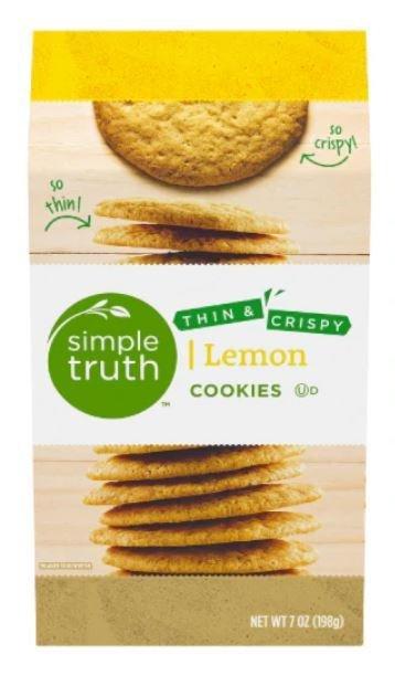 Sandwich Cookies, Simple Truth™ Thin & Crispy Lemon Cookies (7 oz Box)