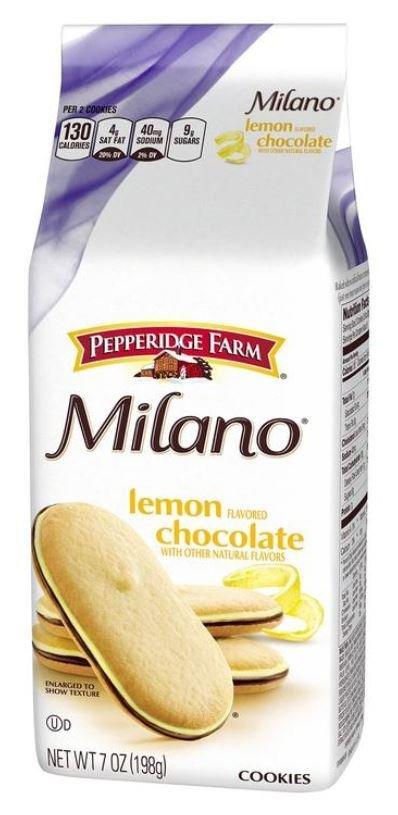 Cookies, Pepperidge Farm® Milano™ Lemon Chocolate Cookies (7 oz Bag)