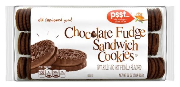 Cookies, P$$t...® Chocolate Fudge Sandwich Cookies (32 oz Bag)