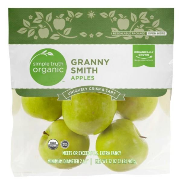 Organic Fresh Apples, Simple Truth Organic™ Granny Smith Apples (2 lb Bag)