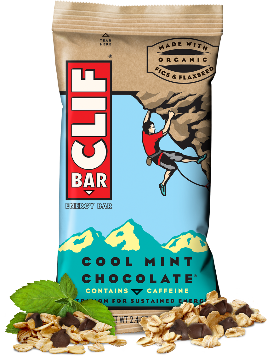Energy Bars, CLIF® Cool Mint Chocolate Energy Bar (2.4 oz Bag)