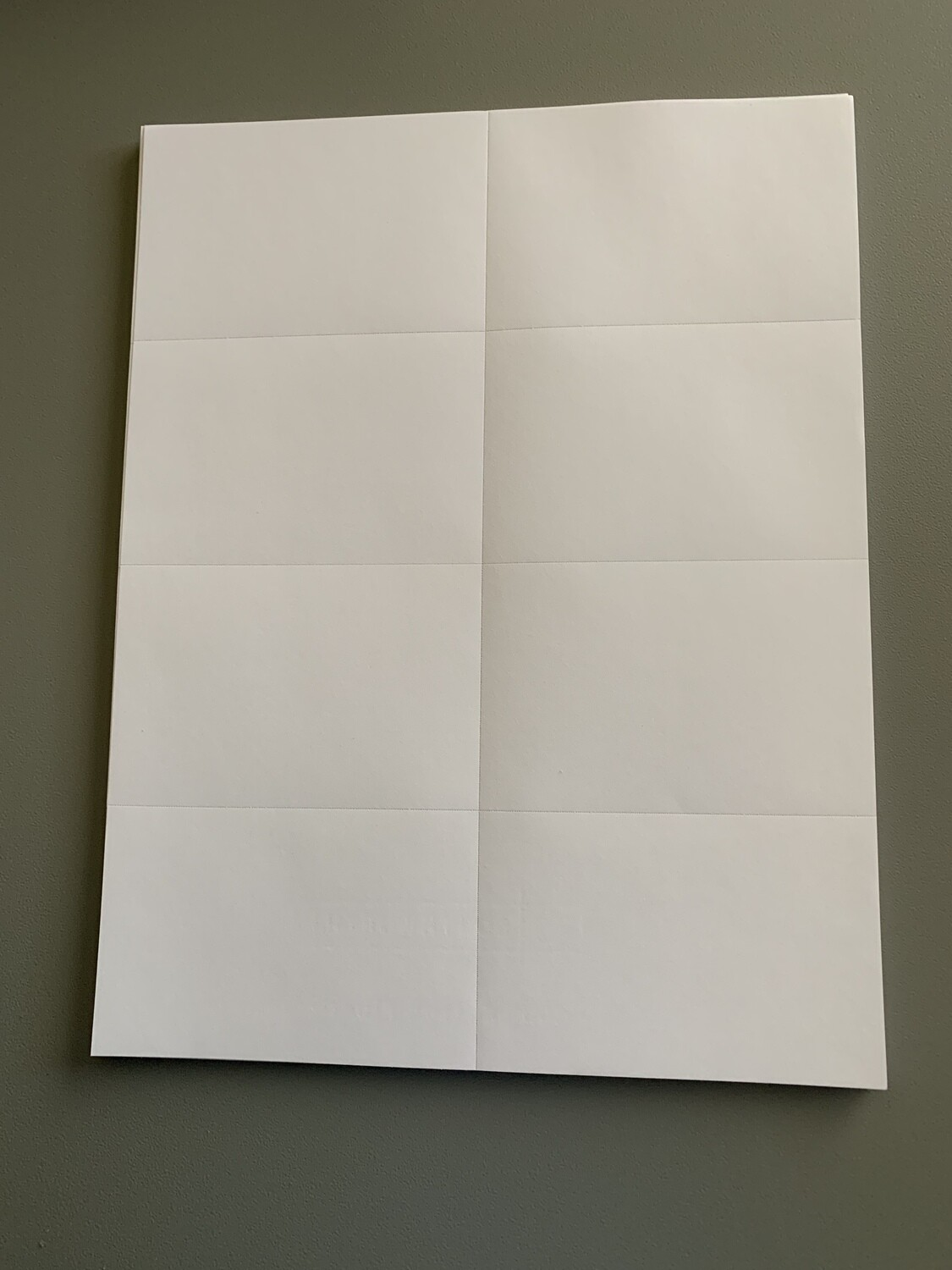 "Cotton Paper 8.5"" x 11"" (Plain or Perforated for Labels)"